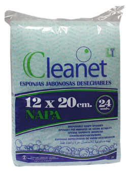 CLEANET soapy sponges