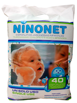 baby's disposable soapy sponges NINONET